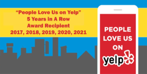 Yelp - Water Damage Restoration - Mold Removal award 5 years in a row